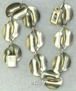 Vintage David Andersen Yellow Enamel Double Leaf Bracelet Willie Winnaess