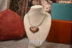 Vintage David Anderson Norway 925 sterling necklace earrings set
