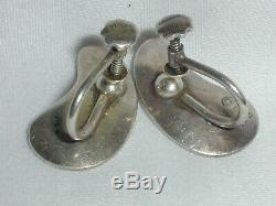 Vintage Denmark Sterling Georg Jensen Nanna Ditzel Earrings # 123