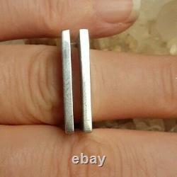 Vintage Denmark Sterling Silver Modernist Abstract Ring Size 6 Henning Ulrichsen