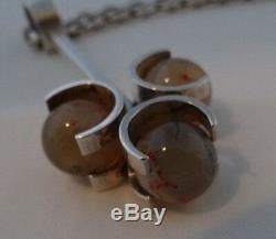 Vintage Elis Kauppi Kupittaan Kulta Sterling Silver 925s With 3 Stones Pendant W