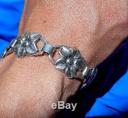 Vintage European Deco 925 Silver Denmark Scandinavian Munksgaard Bracelet