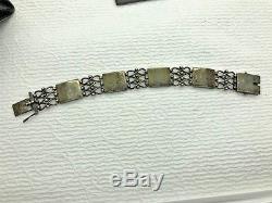 Vintage Evald Neilsen 850 S Silver Denmark Modernist Link Danish Bracelet (MKN)