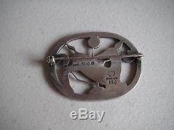 Vintage GEORG JENSEN 256 Denmark Sterling Silver ART DECO Deer Pin Brooch