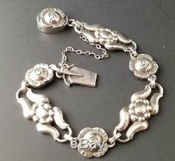 Vintage GEORG JENSEN BRACELET #18 Sterling Silver Signed GJ 925 CIRCA 1910-1925