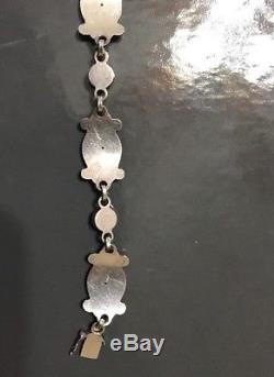 Vintage GEORG JENSEN Bracelet #11 Sterling Moonlight Blossom 11 Denmark Earrings