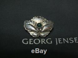 Vintage Georg Jensen 107 Denmark Sterling Silver Brooch Pin