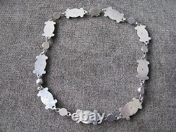Vintage Georg Jensen #15 Moonlight Blossom Sterling Silver Necklace 17 Long