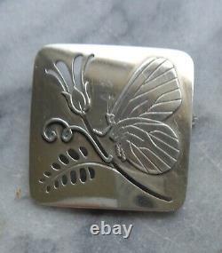 Vintage Georg Jensen Denmark #294 Sterling Butterfly Brooch