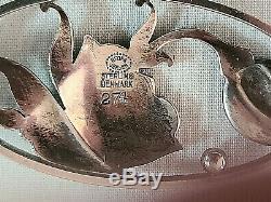Vintage Georg Jensen Denmark Sterling Silver #274 Brooch Pin 1915-27 Hallmark