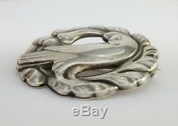 Vintage Georg Jensen Denmark Sterling Silver Dove Brooch Pin 165