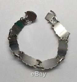 Vintage Georg Jensen Denmark Sterling Silver Floral Link Bracelet #15