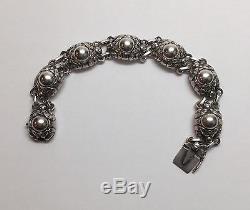 Vintage Georg Jensen Denmark Sterling Silver Link Bracelet #57 B, 1933-1944