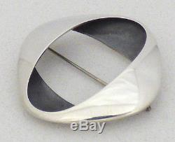 Vintage Georg Jensen Denmark Sterling Silver Modernist Brooch No. 368