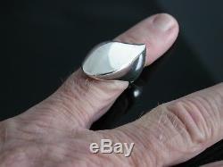 Vintage Georg Jensen Denmark Sterling Silver Modernist Ring Sz. 7.1643