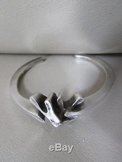 Vintage Georg Jensen Denmark Sterling Silver cuff Bracelet #A112