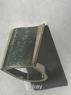 Vintage Georg Jensen Nanna Ditzel #423 Surf Sterling Silver Modernist Ring 7.25