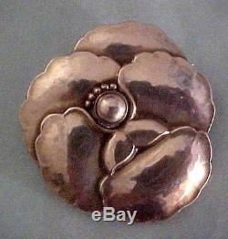 Vintage Georg Jensen Sterling Denmark Pansy Brooch Pin #113