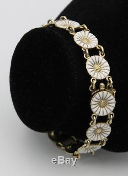 Vintage Georg Jensen Sterling Silver Daisy Marguerite Bracelet, Denmark
