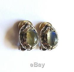 Vintage Georg Jensen Sterling Silver Labradorite Annual Earrings, 1997 Denmark