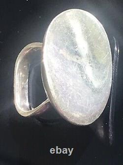 Vintage Georg Jensen Vivianna Torun #187 Serenity Sterling Oval Ring Size 5.75