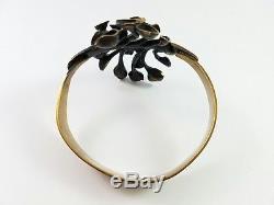 Vintage Hannu Ikonen Finland Bronze Modernist Bracelet Reindeer Moss