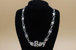 Vintage Hermann Siersbol Danish Sterling Silver Links Necklace