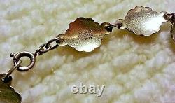 Vintage Ivar Holth Guilloche Enamel Sterling Silver Flower Panel Bracelet, 7.25