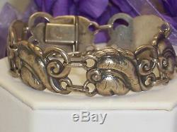 Vintage John Lauritzen Denmark Sterling Silver Heavy Ornate Link Bracelet 66.1 G