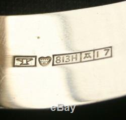Vintage KUPITTAAN KULTA Silver Quartz Cuff Bracelet