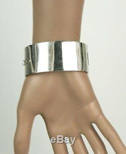 Vintage Kaunis Koru Finland Modernist 925 Sterling Silver Heavy Bangle Bracelet