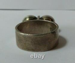 Vintage Kupittaan Kulta Modernist Sterling Silver Ring Size 6-1/2