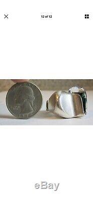 Vintage Lapponia Bjorn Weckstrom Darinas Tear Sterling & Acrylic Ring Sz. 5.75