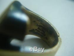 Vintage Lapponia Finland Modernist Bronze Flame Ring Sz 7 Bjorn Weckstrom