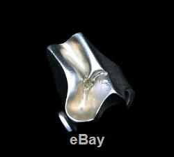 Vintage Lapponia Scandinavian Modernist Adjustable Solid Silver Ring c. 1976