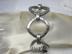 Vintage Lysgards Link Danish Modern /Denmark Modernist Brutalist Pewter Bracelet
