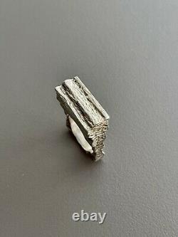 Vintage MidCentury Anton Michelsen KVA Danish Modernist Sterling Silver Ring Sz7