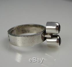 Vintage Mid Centu Artistic KUPITTAN KULTA Finland Sterling Silver Amethyst Ring