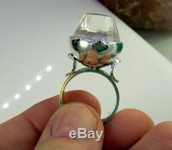 Vintage Mid Century KUPITTAAN KULTA Finland Sterling Silver Rock Quartz Ring