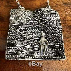 Vintage Mid Century Modernist MCM Jorma Laine 830 Silver Flying Carpet Necklace