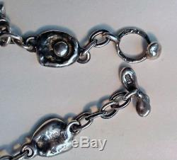 Vintage Mod 830H Silver Necklace Brutalist Finland Kultateollisuus Oy Turku