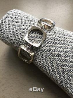 Vintage Modernist Danish Sterling Silver Bracelet