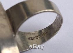 Vintage Modernist Kultaseppa Salovaara Ky Sterling Silver Finland Amethyst Ring