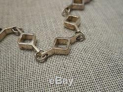 Vintage Modernist Link 830 Silver Bracelet Kultateollisuus Ky Finland