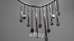 Vintage Modernist Necklace Sterling Silver 925s Sweden