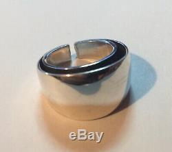Vintage Modernist Norway Design TONE VIGELAND Sterling Silver Ring 11.3 gr