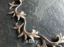 Vintage Modernist Sterling Silver Necklace, Scandinavian Jewelry