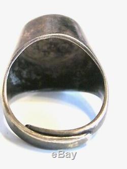 Vintage Modernist Teal Enamel D-a Uni David Andersen Mod Dot Norway Ring 925 S