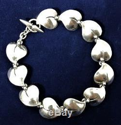 Vintage N. E. From Sterling Silver Bracelet Modern Danish Denmark Mid-Century