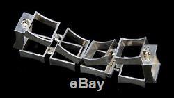 Vintage Niels Erik FROM Scandinavian Sterling Silver 925s Modernist Bracelet